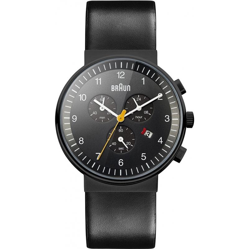Braun Watches BN0035BKBKG Mens Chronograph All Black Watch