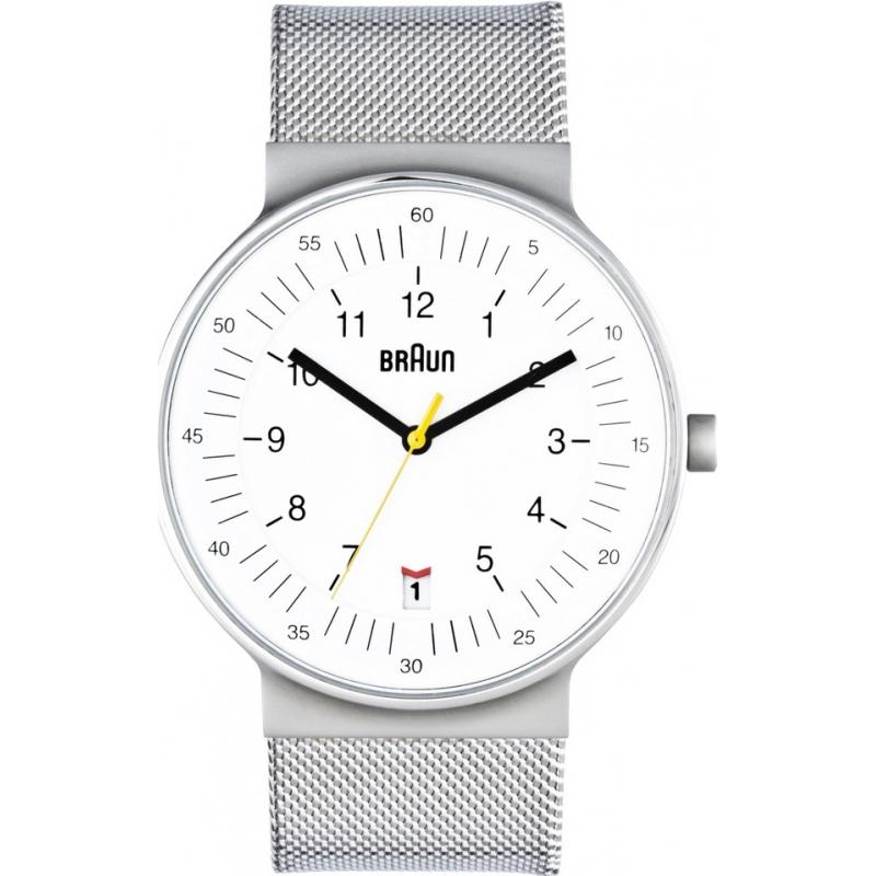 Braun Watches BN0082WHSLMHG Mens All White Steel Watch