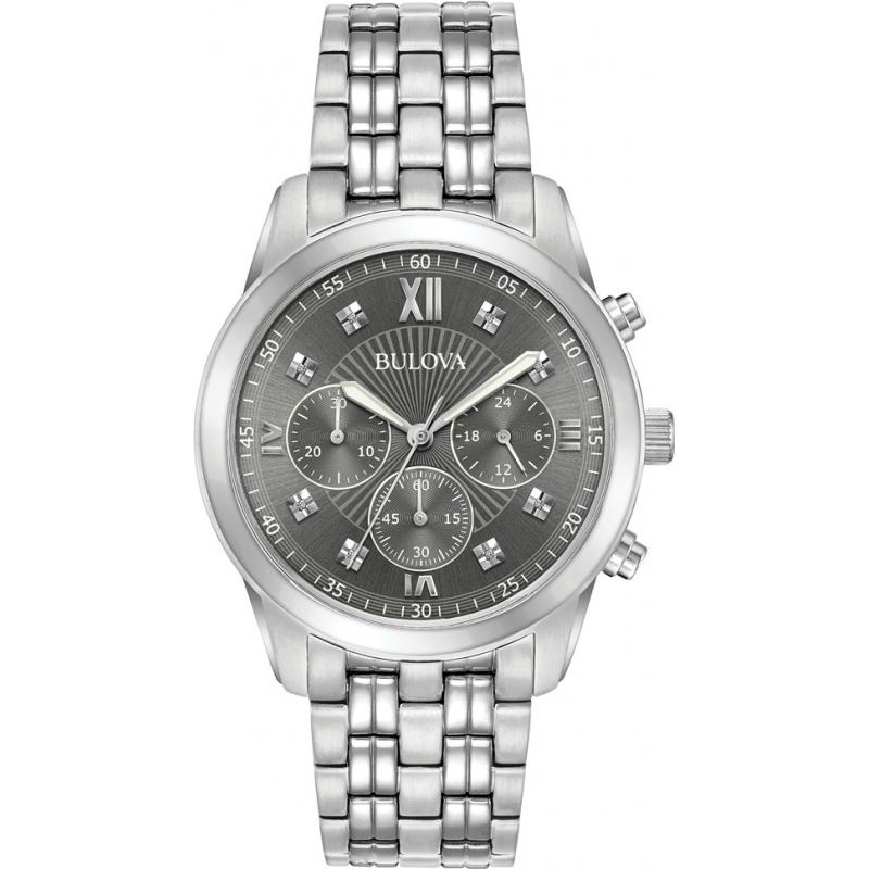 Bulova 96D135 Mens Diamond Watch