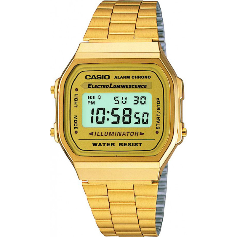 Casio A168WG-9EF Classic Collection Gold Digital Watch