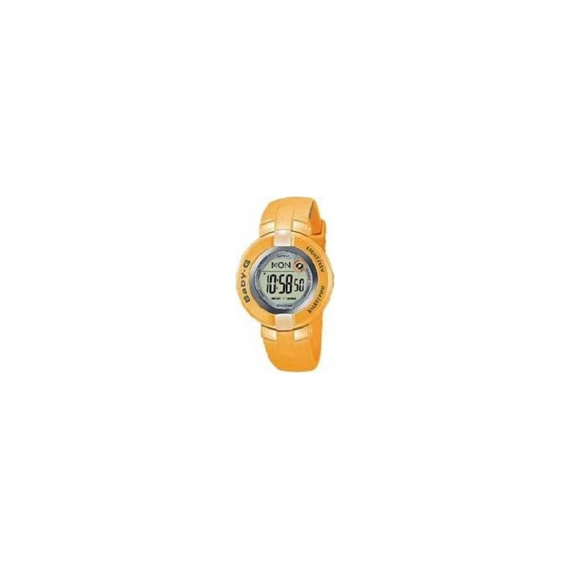 Casio Watches BG-1200-4BVER Baby-G Ladies Chronograph Yellow Rubber Strap Watch