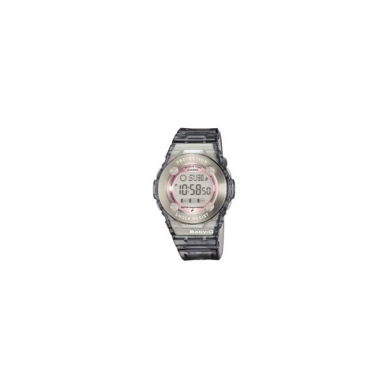 Casio Watches BG-1302-8ER Ladies Baby-G Stopwatch Titanium Rubber Strap Watch