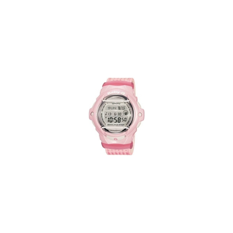 Casio Watches BG-169DB-4ER Baby-G Ladies Digital Chronograph Pink Rubber Strap Watch