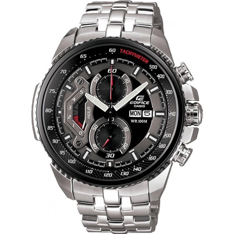 0dfb7ef43 Casio EF-558D-1AVEF Mens Edifice Black Steel Chronograph Watch