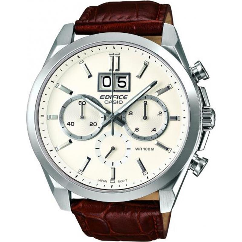 Casio EFB-502L-7AVER Mens Edifice Neo Brite Brown Leather Strap Watch