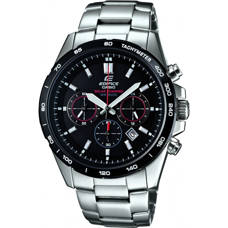 Casio EFR-518SB-1AVEF Mens Edifice Solar Powered Chronograph Watch