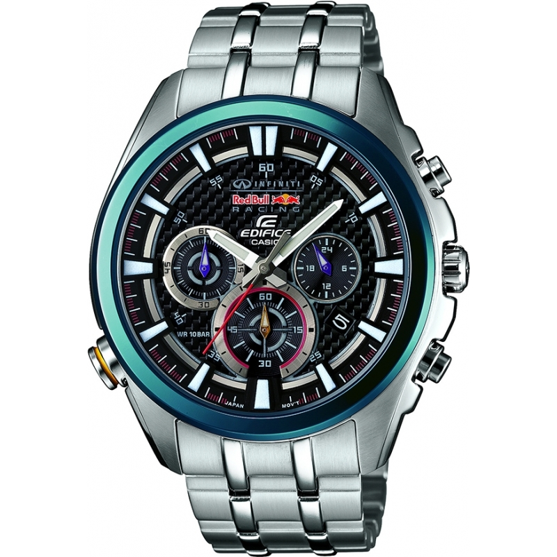 07baa6357a5a Casio EFR-537RB-1AER Mens Edifice Red Bull Racing Limited Edition Neon  Illuminator Watch