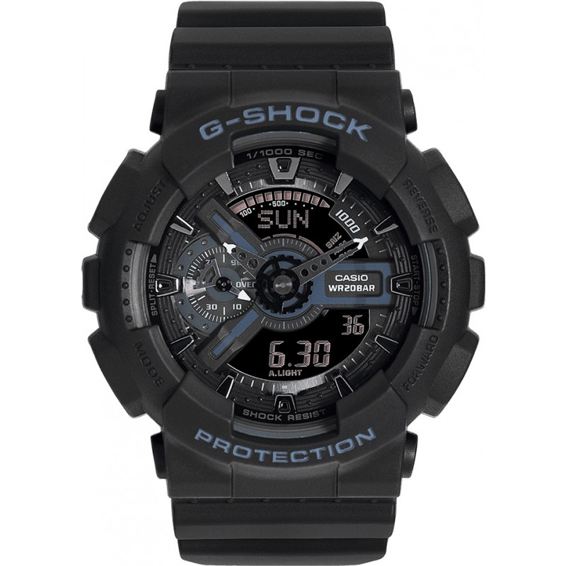 Casio GA-110-1BER Mens G-Shock Black Combi World Time Watch