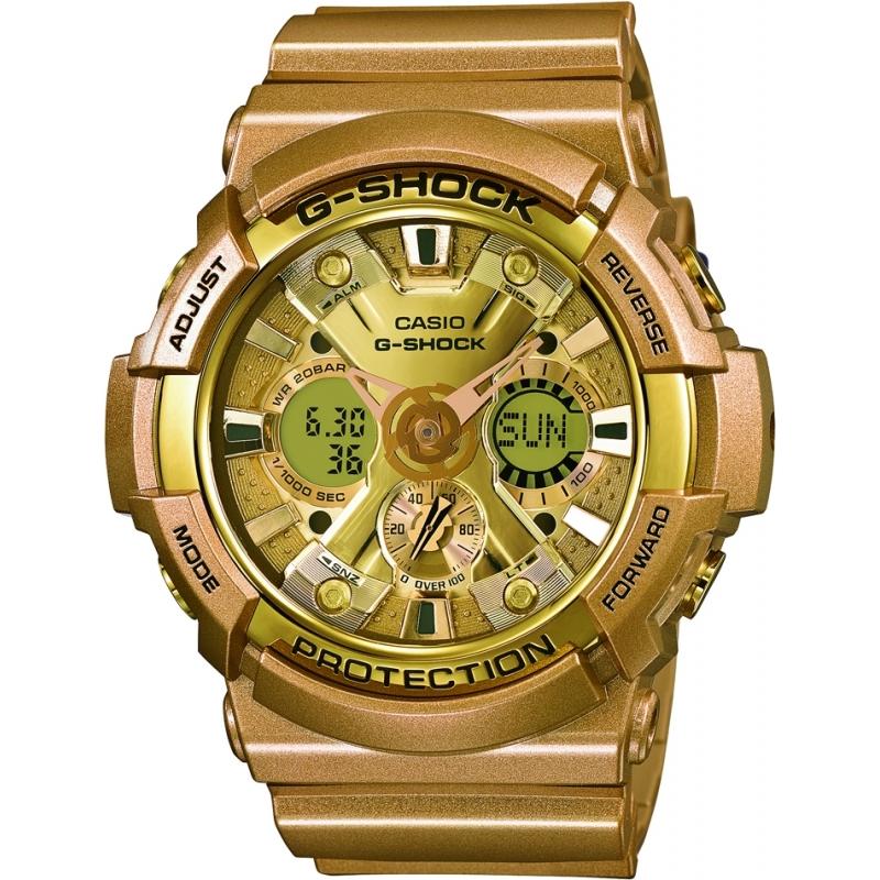 casio ga 200gd 9aer mens watch watches2u casio ga 200gd 9aer mens g shock world time gold resin strap watch