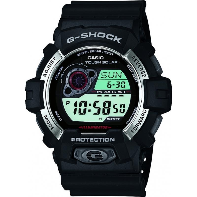 Casio GR-8900-1ER Mens G-Shock Solar Powered Black Resin Strap Watch