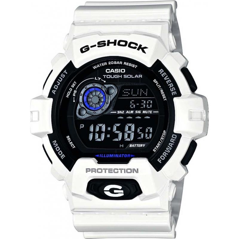 Casio GR-8900A-7ER Mens G-Shock World Time White Solar Powered Watch