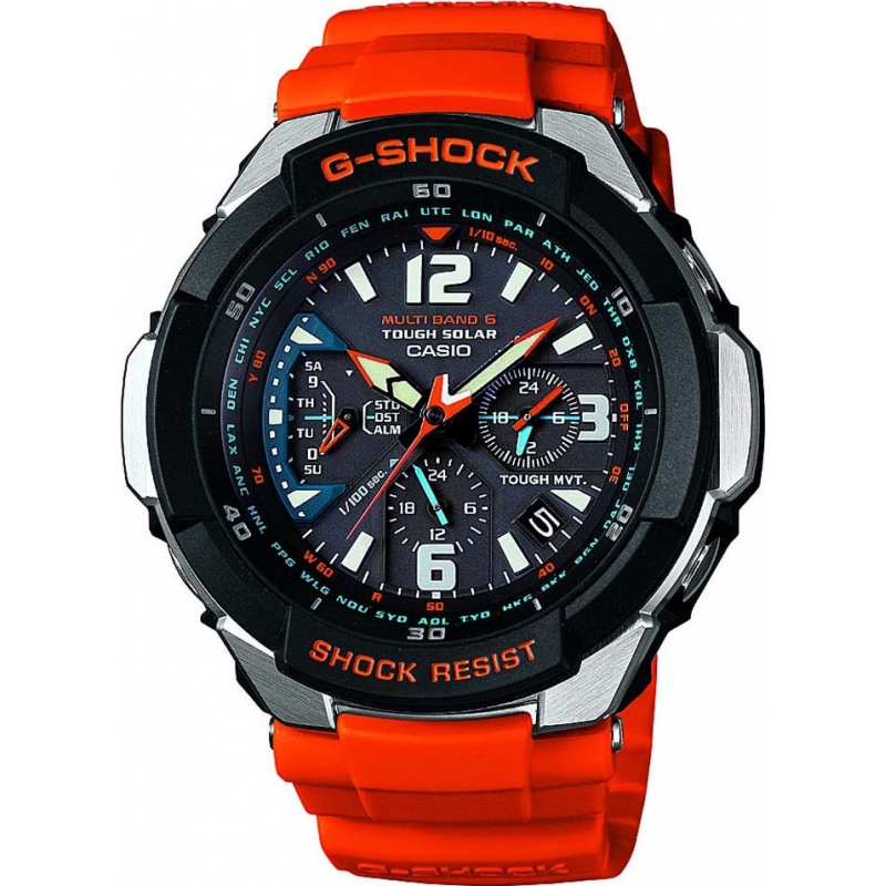 1e085e2b3fc Casio GW-3000M-4AER Mens G-Shock Radio Controlled Orange Solar Powered Watch