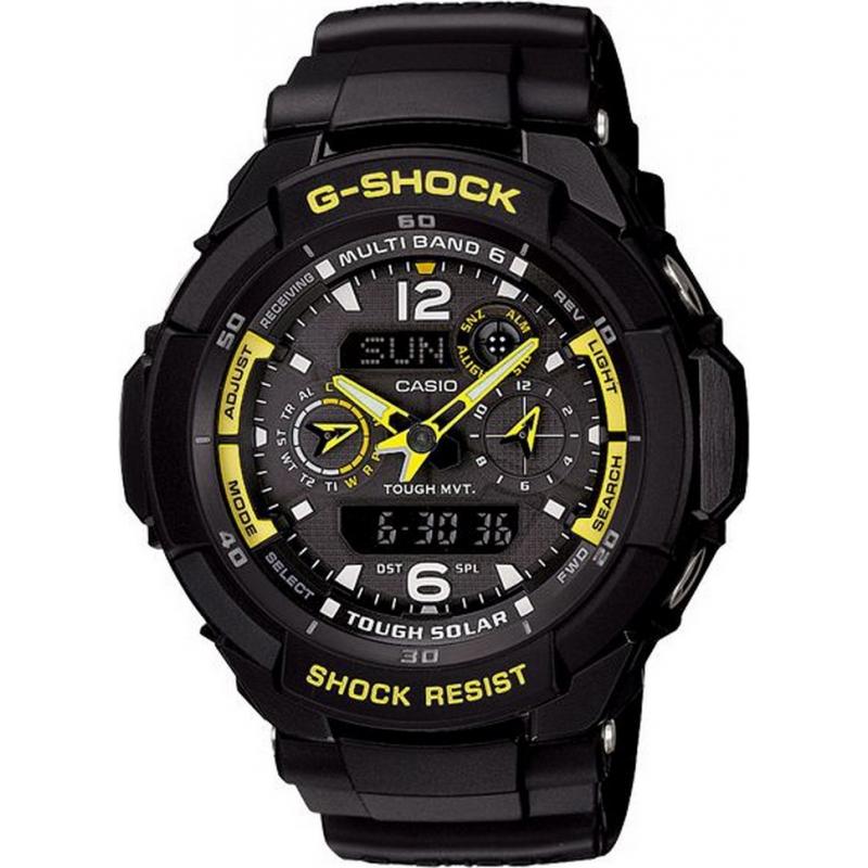Casio GW-3500B-1AER Mens G-Shock Combi Display Tough Solar Watch