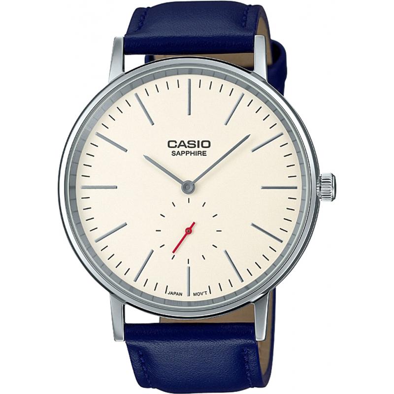 43993eeef4ff0 Blue Leather LTP-E148L-7AEF Casio Retro Watch | Watches2U