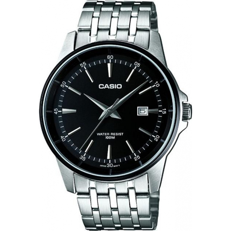 Casio MTP-1344AD-1A1VEF Mens Collection Black Silver Watch