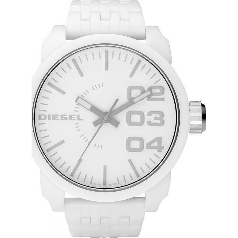 diesel dz1461 mens watch watches2u diesel dz1461 mens franchise white watch