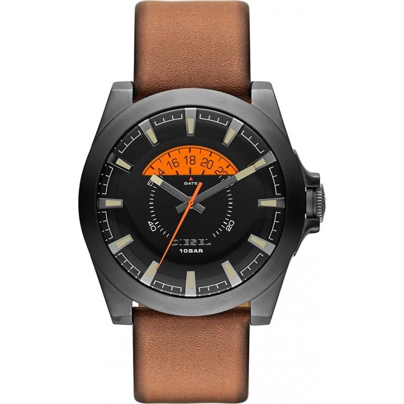Diesel dz1660 mens watch watches2u for Black tan watch