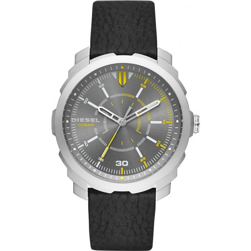 dz1739 machinus diesel mens watch watches2u diesel dz1739 mens machinus black leather strap watch