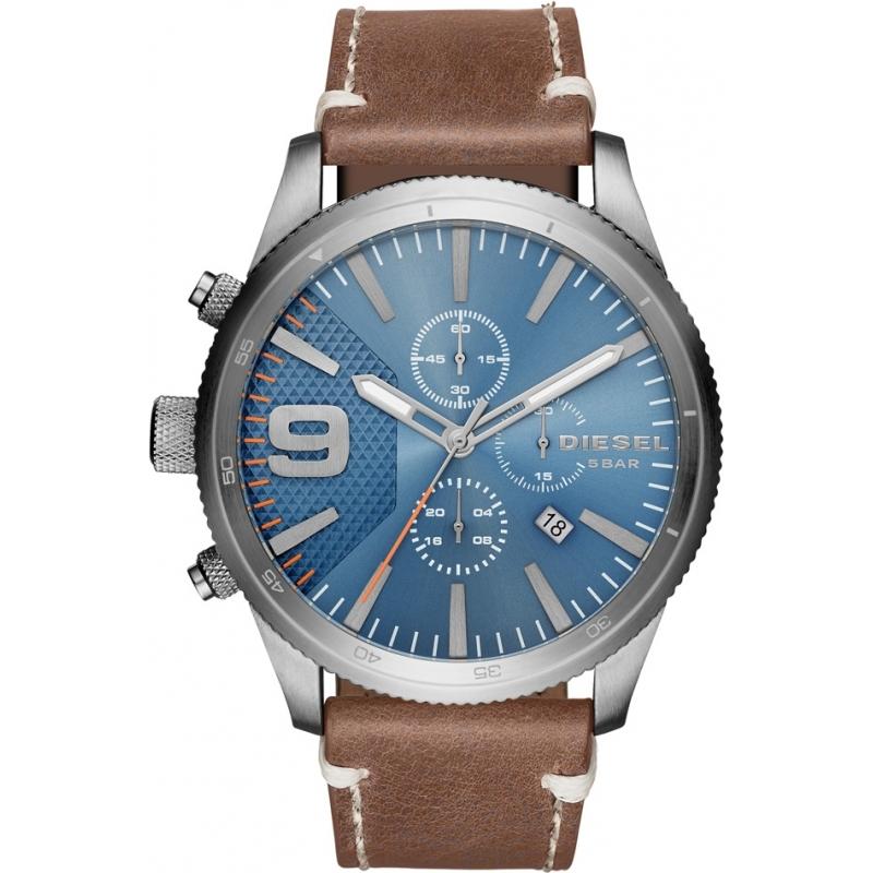 brown leather dz4443 diesel watch watches2u. Black Bedroom Furniture Sets. Home Design Ideas