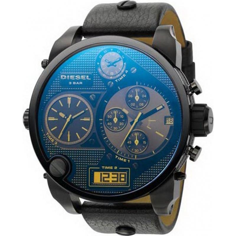 394050821 Diesel DZ7127 Mens Big Daddy Blue Chronograph Watch