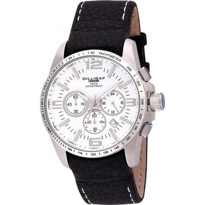 Dilligaf DS1112-131 Mens Chronograph White Watch