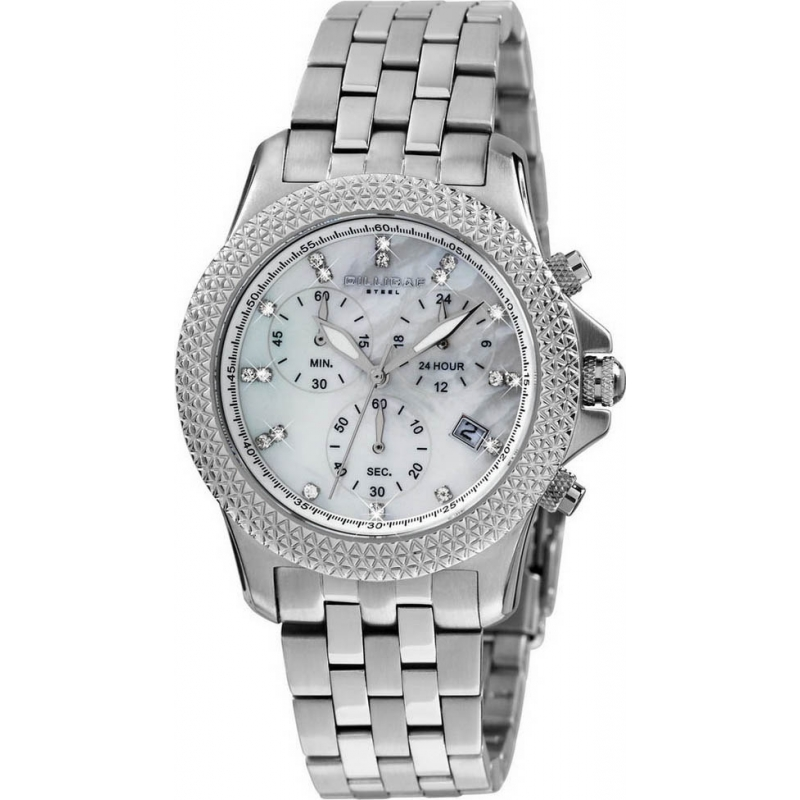 Dilligaf DS3307-131 Ladies Chronograph Crystals Watch