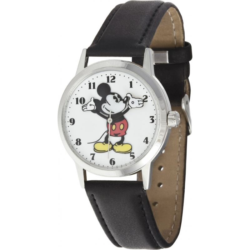 26090 mens disney by ingersoll watch watches2u disney by ingersoll 26090 mens classic all day everyday mickey mouse black leather strap watch