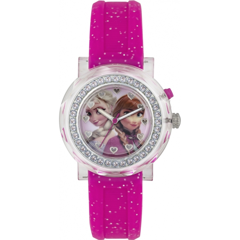 Fzn3565d frozen girls anna and elsa flashing watch for Frozen watches