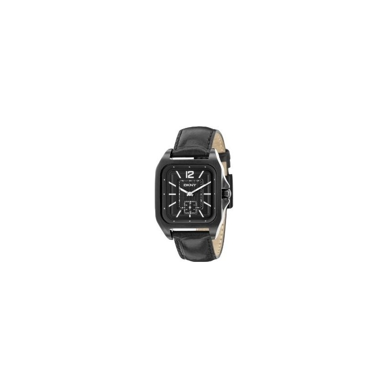 DKNY Watches NY1440 Mens Black Dial And Leather Strap Watch