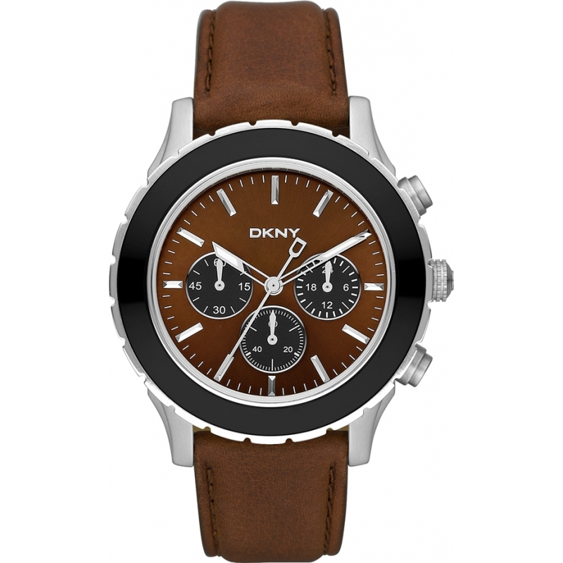 DKNY MEN'S CHRONOGRAPH BROWN LUXURY COLLECTION …