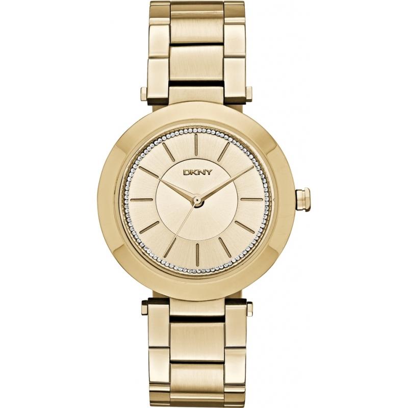DKNY NY2286 Ladies stanhope vergulde armband horloge