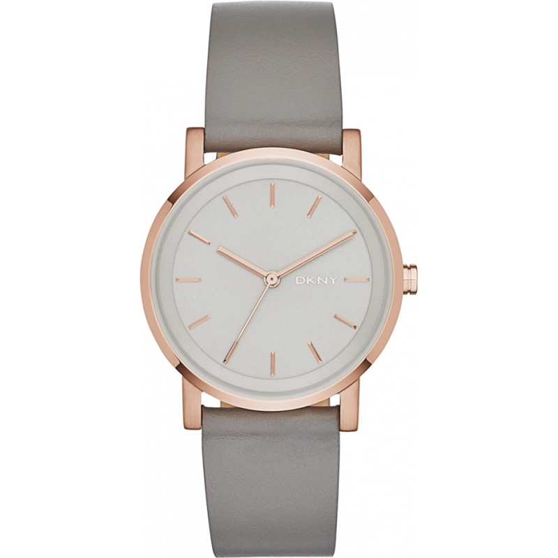DKNY Ladies Soho Grey Leather Strap Watch NY2341 a0305e9ee479