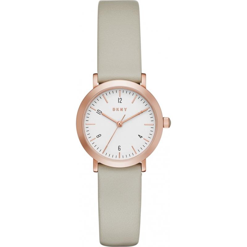 f64e3a9e96d DKNY Ladies Minetta Grey Leather Strap Watch NY2514