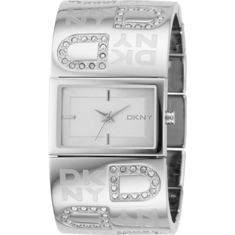 NY4738 - DKNY Ladies Silver Stone Set Bracelet Watch de74caa76163