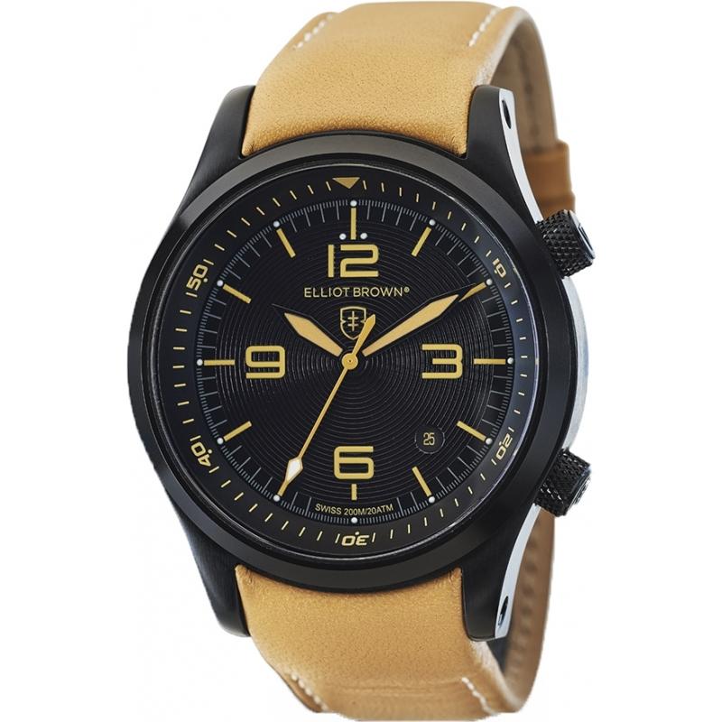 202 008 mens elliot brown watch watches2u for Black tan watch