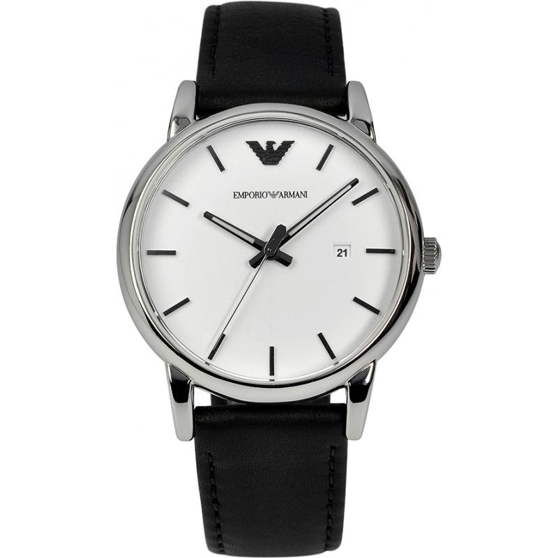 9e0eb9ff44035 Emporio Armani AR1694 Mens Classic White and Black Watch
