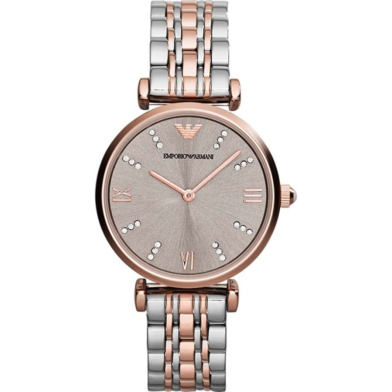 537b45134263 Emporio Armani AR1840 Ladies Classic Steel and Rose Gold Watch