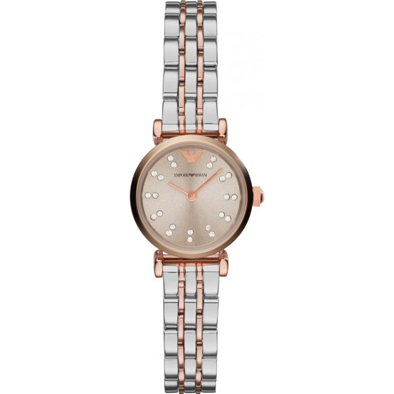 3983a4f96036 Silver Rose Gold Metal AR1841 Emporio Armani Watch