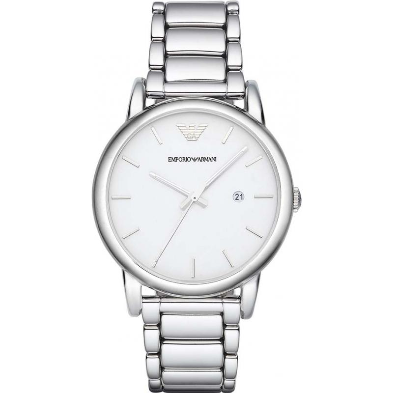 eab2d3290b9ee4 Emporio Armani AR1854 Mens Classic White Silver Watch
