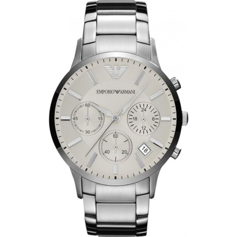 8e2f6af13fe Emporio Armani AR2458 Mens Classic Chronograph Silver Watch