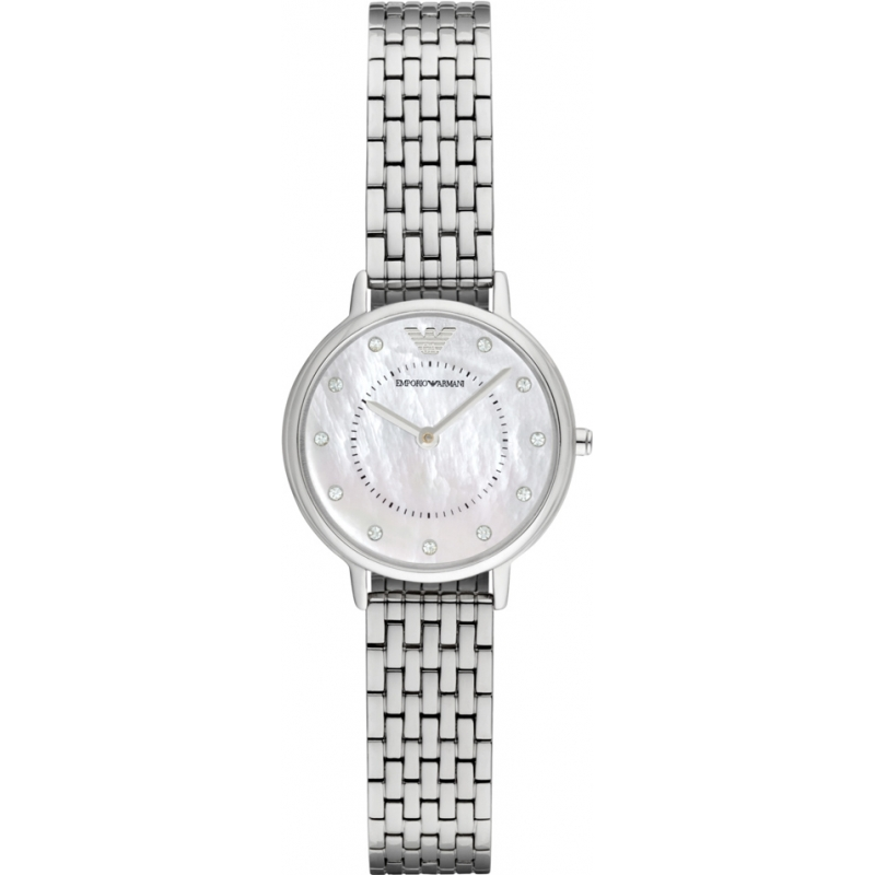 433a30b6295e Emporio Armani AR2511 Ladies Dress Silver Steel Bracelet Watch