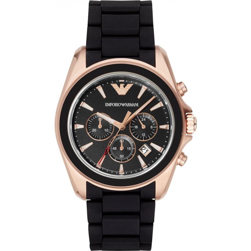 ar6066 emporio armani mens matte black chronograph sports watch emporio armani ar6066 mens matte black chronograph sports watch
