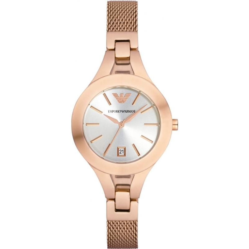 c9ad5885 Ladies Rose Gold Plated Mesh Bracelet Dress Watch