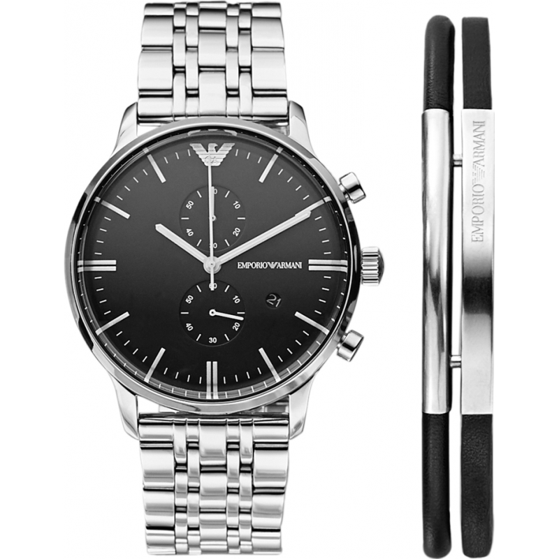 b8dd467395c4a Emporio Armani AR80009 Mens Watch and Bracelet Gift Set