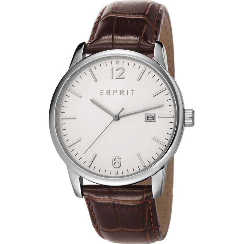 Esprit ES106881003 Mens Silver Brown Whitlaw Watch