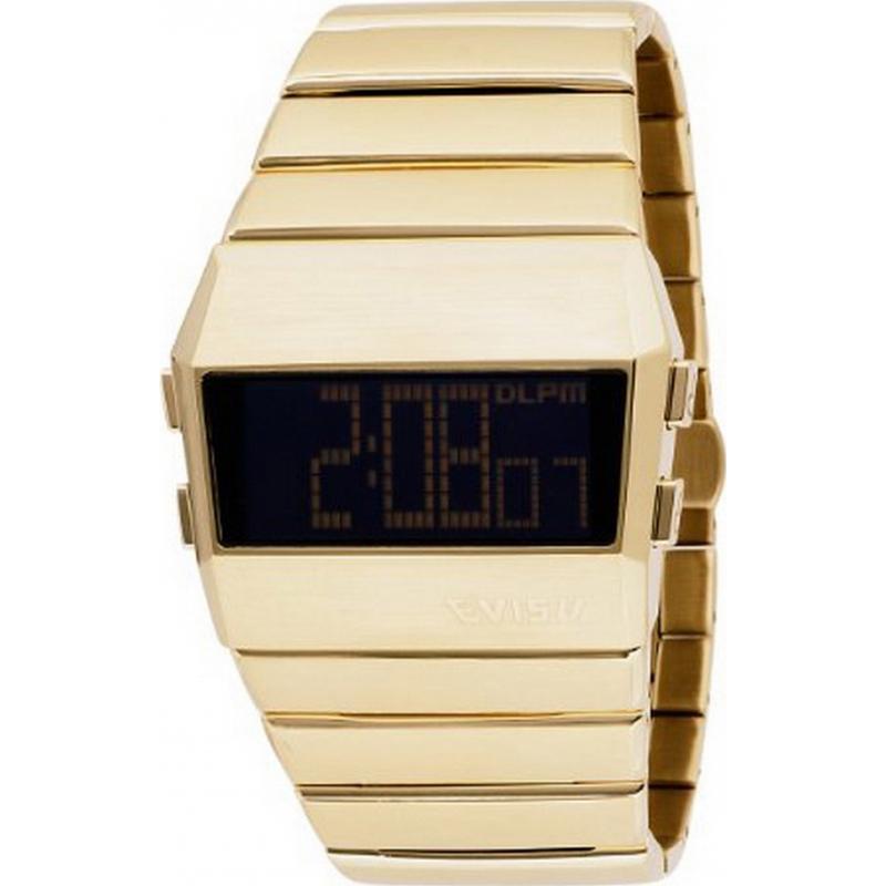 Evisu EV-7007-44 Mens Digi-Man Black Gold Watch