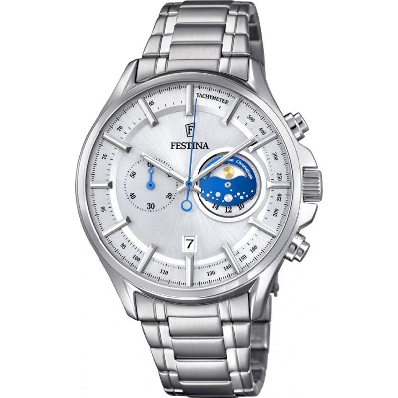 Festina F6852-1 Para hombre reloj cronógrafo de plata