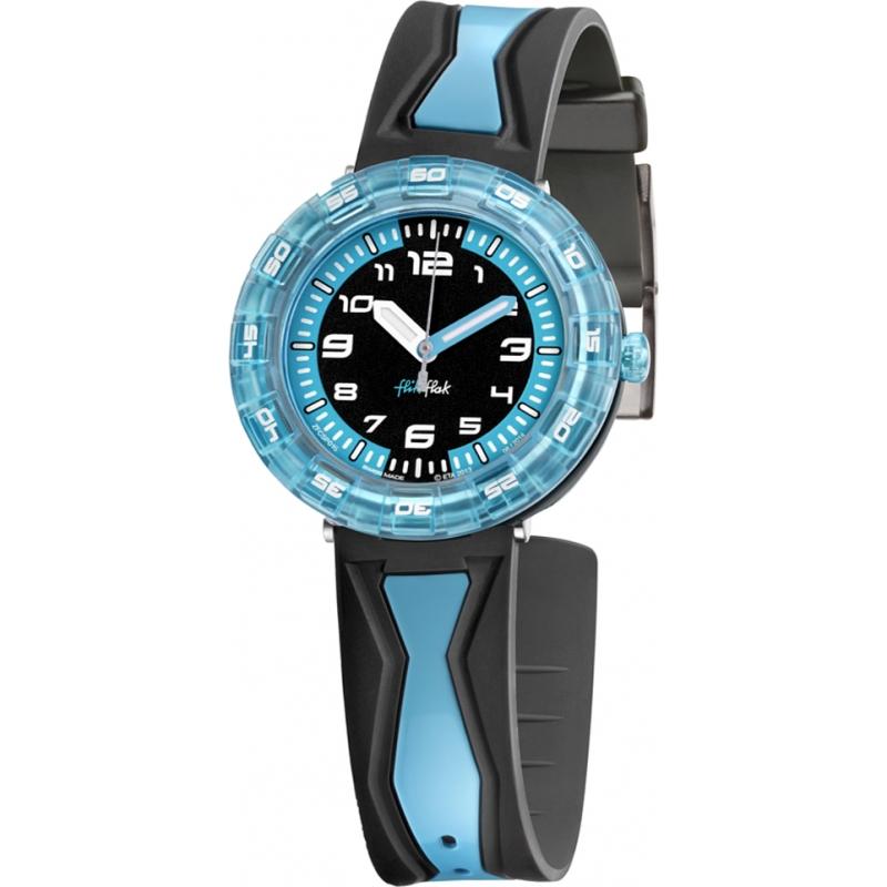 Flik Flak FCSP016 Chicos consiguen en azul! reloj en dos tonos
