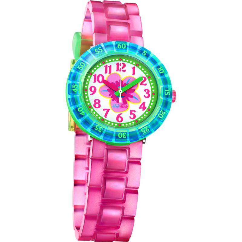 Flik Flak FCSP028 Girls Chewy Pink Silicone Strap Watch 462696a18da