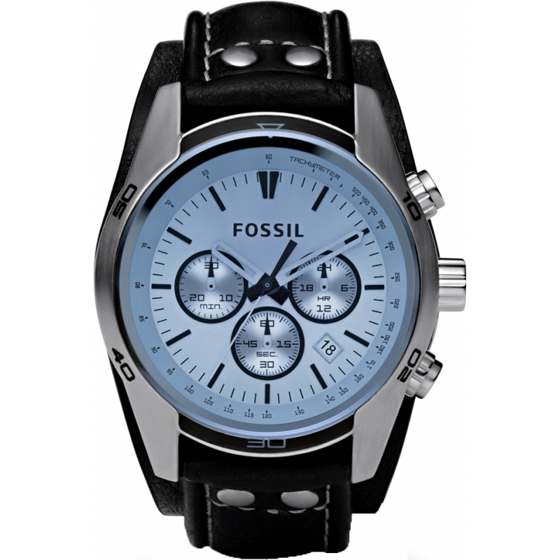 ch2564 trend fossil mens watch watches2u fossil ch2564 mens coachman black leather chronograph watch